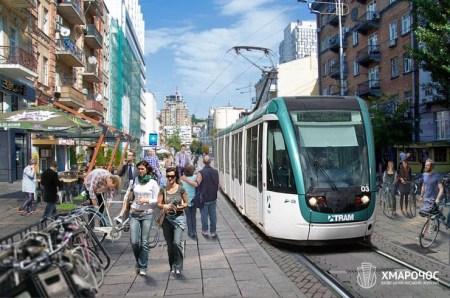 Кличко распорядился за четыре года построить линию скоростного трамвая от вокзала до «Дворца Спорта»