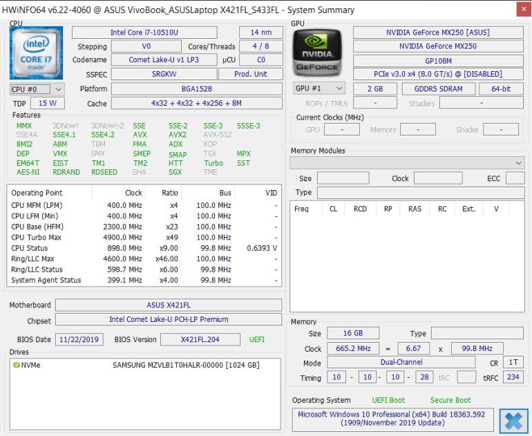 Обзор ноутбука ASUS VivoBook S14 S433FL