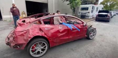 Невероятно живучая машина — Tesla Model 3 [фото и видео]