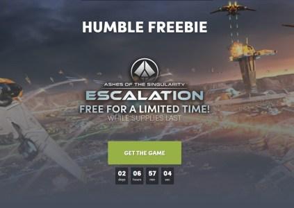 На этой неделе можно бесплатно получить игры Ashes of Singularity: Escalation и Death Coming
