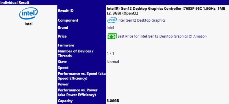 Обнаружена дискретная настольная видеокарта Intel Xe DG1 с 768 ядрами и 3 ГБ памяти, но она может не появиться на рынке в таком виде