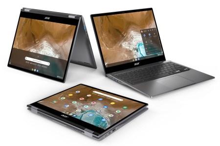 Acer представила пару новых хромбуков — продвинутый 13,5-дюймовый Chromebook Spin 713 с Intel 10Gen за $629 и бюджетный 11-дюймовый Chromebook Spin 311 с Mediatek MT8183 за $259