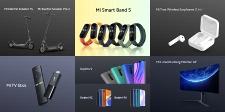 Новинки Xiaomi для Украины: Недорогие смартфоны Redmi 9, TWS-наушники, 34-дюймовый игровой монитор, электросамокаты и аналог Chromecast