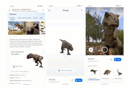Google с помощью AR «оживила» динозавров из «Мира Юрского периода» — теперь можно посмотреть на гуляющего парком «Ти-Рекса» и прочих