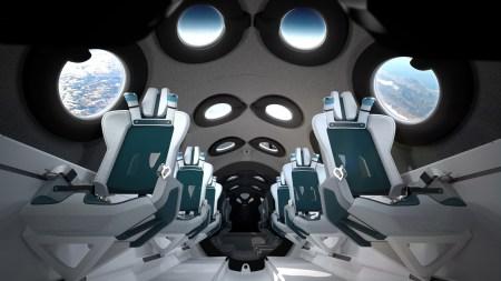 Virgin Galactic показала интерьер кабины своего туристического космического корабля