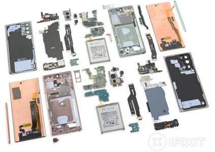 iFixit: в Samsung Galaxy Note 20 Ultra нет испарительной камеры и медных тепловых трубок