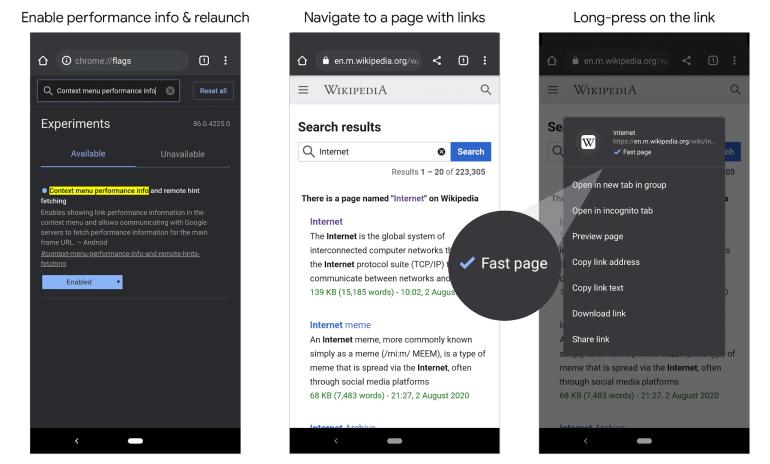 Chrome на Android вскоре начнет маркировать быстрые сайты специальной отметкой — ее наличие будет влиять на ранжирование в поиске Google