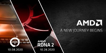 AMD назвала даты презентаций процессоров Zen 3 и видеокарт RDNA 2 — 8 и 28 октября соответственно
