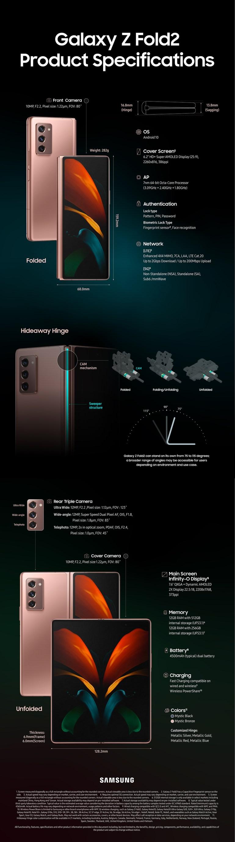 Названа цена гибкого смартфона Samsung Galaxy Z Fold2 для Украины — 59 999 грн