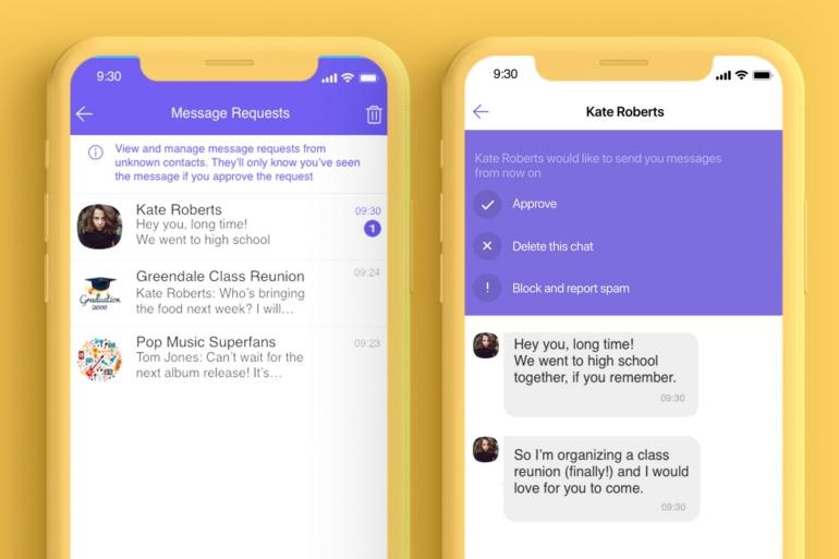 Viber запустил новую функцию группировки запросов на общение от неизвестных, которая должна помочь бороться со спамом