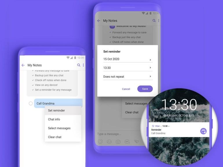 В мессенджере Viber появилась функция напоминаний о задачах и важных событиях