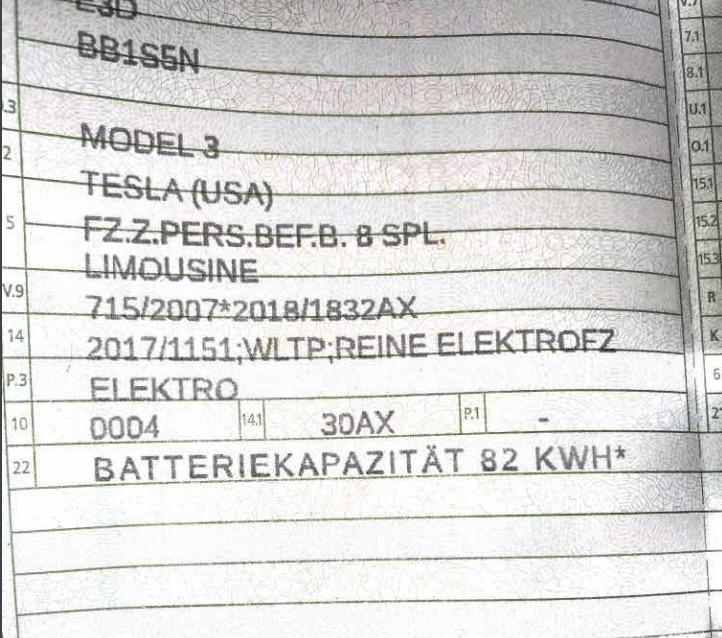Подтверждено: Tesla Model 3 (2021) оснащается аккумулятором повышенной емкости на 82 кВт•ч