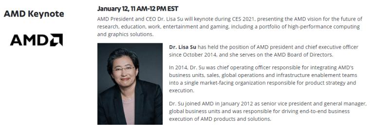 12 январяпройдет онлайн-презентация AMD в рамках CES 2021 — с ожидаемым анонсом мобильных процессоров Ryzen 5000 и видеокарт Radeon RX 6700 (XT)