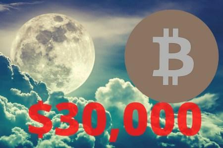 Курс Bitcoin впервые превысил 30 тысяч долларов [Обновлено: взята планка в 33 тысячи]