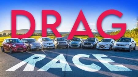 «Honda e, VW e-up!, Peugeot e-208 и др.»: Энтузиасты сравнили восемь компактных электромобилей в заезде на скорость [видео]