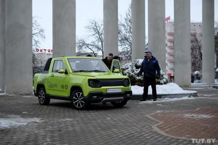 В Беларуси разработали «каркасно-панельный» электрический пикап Academiс electro с мощностью 80 кВт и запасом хода до 150 км