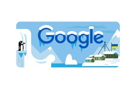 Google присвятив дудл 25-річчю української антарктичної станції «Академік Вернадський»