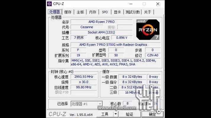 Настольный APU AMD Ryzen 7 Pro 5750G (Zen 3) способен достигать частоты 4,75 ГГц для всех ядер