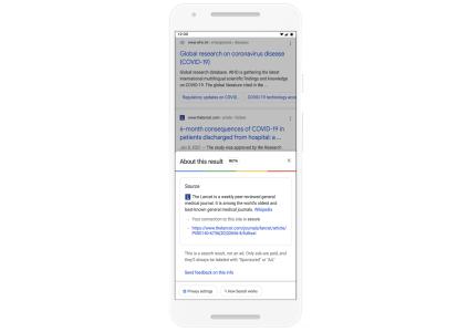 Google добавила функцию более детальной проверки сайтов в поисковой выдаче