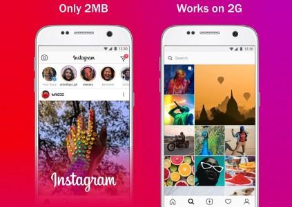 Облегчённая версия Instagram Lite выходит для пользователей в более чем 170 странах, её объём – всего 2 МБ