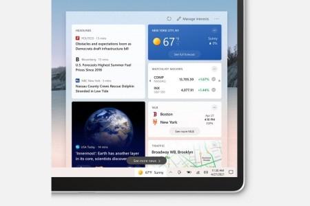 Microsoft провела крупнейший за последние годы редизайн панели задач Windows 10 — в нее добавили виджет с данными о погоде и новостях