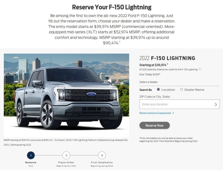 Электрический пикап Ford F-150 Lightning собрал почти 45,000 предзаказов за первые двое суток с момента анонса