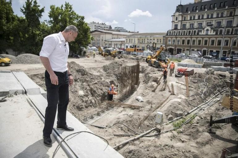 Віталій Кличко: Роботи зі спорудження метро на Троєщину вже розпочали, а в кінці року відкриємо автосполучення через Подільсько-Воскресенський міст