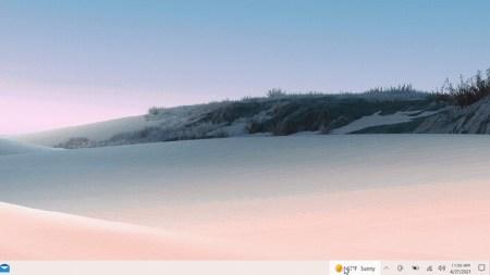 Microsoft починила размытый виджет погоды на панели задач Windows 10