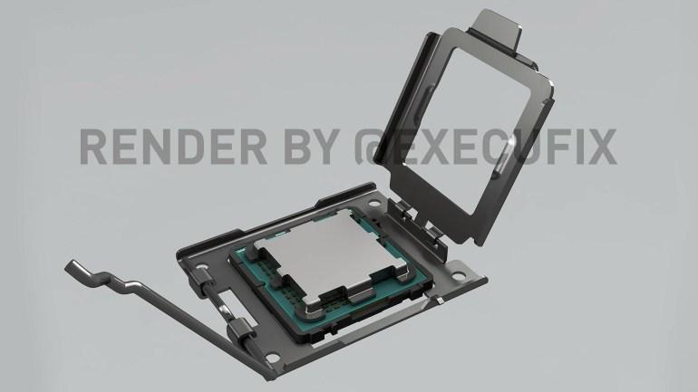 Инсайдеры показали, как будет выглядеть сокет AMD AM5 для процессора Ryzen Zen4 Raphael