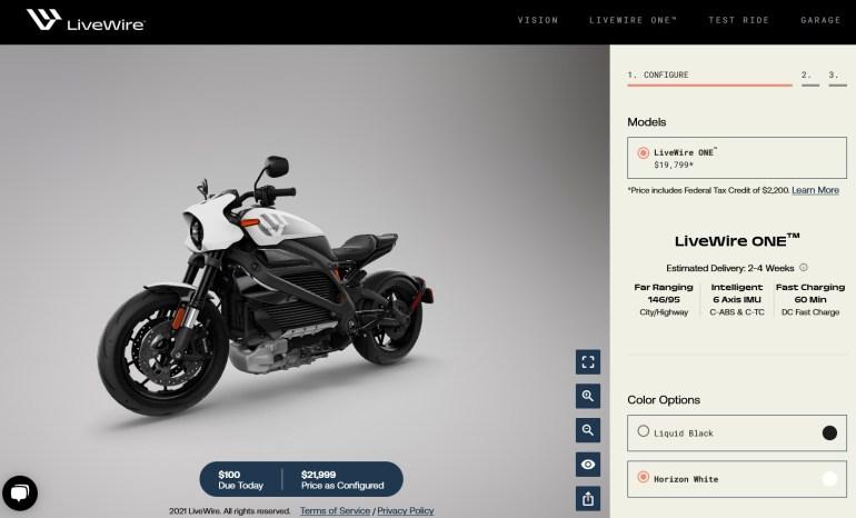 Суббренд Harley-Davidson выпустил электромотоцикл LiveWire ONE с мощностью 105 л.с., батареей 15,5 кВтч, запасом хода 235 км и ценником $21,999