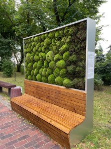 В Києві встановили еколаву з мохом, що очищує повітря та зменшує пил і шум (вона еквівалентна парку з 275 дерев)
