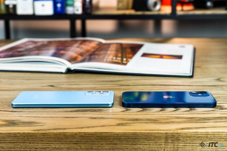 Galaxy A52 против iPhone 12