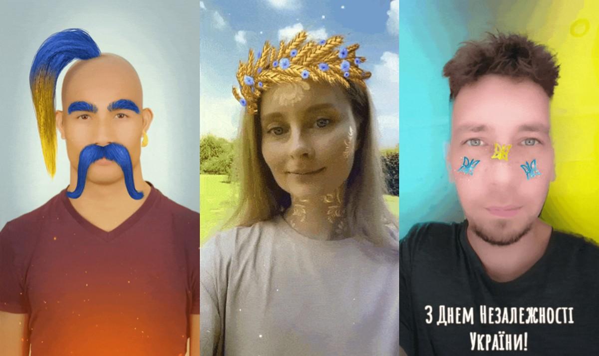 Snap разработал эксклюзивные линзы ко Дню независимости Украины - волосы, гопак, вышивка и т.д.