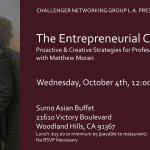Matthew Moran presents on proactive and entrepreneurial career growth