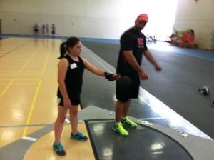 Coach Denard busting a move.