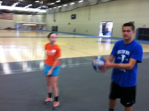 Why am I holding a volleyball?