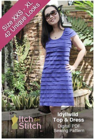 Idyllwild Top & Dress PDF Sewing Pattern Product
