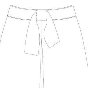 Emily Culottes PDF Pattern Waist Tie Option