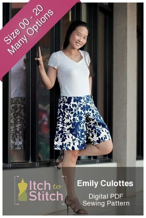 Emily Culottes PDF Sewing Pattern
