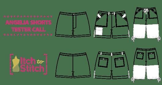 Angelia Shorts PDF Sewing Pattern Tester Call