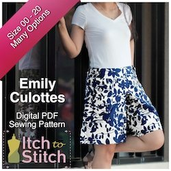 Itch to Stitch Digital Sewing Pattern Emily Ad 250 x 250