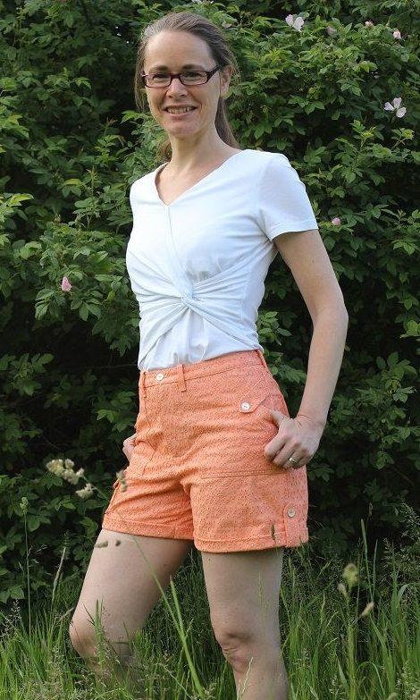 Angelia Shorts PDF Sewing Pattern - View B