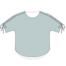 Carey Top PDF Sewing Pattern Line Drawing Front View