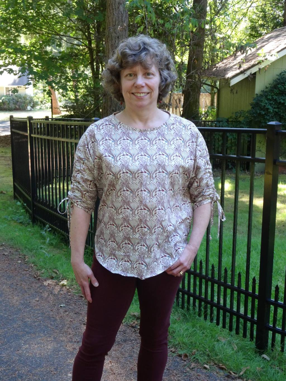 Lynn in her Carey Top - PDF Sewing Pattern