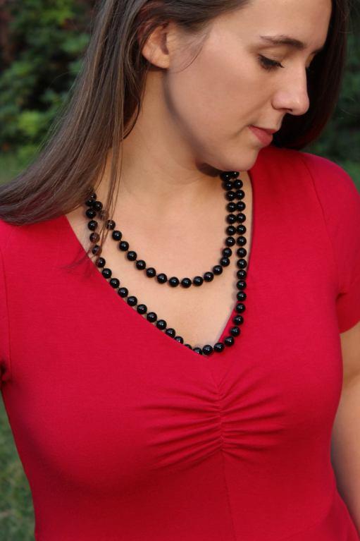 Itch to Stitch Davina Dress PDF Sewing Pattern - Front Close Up