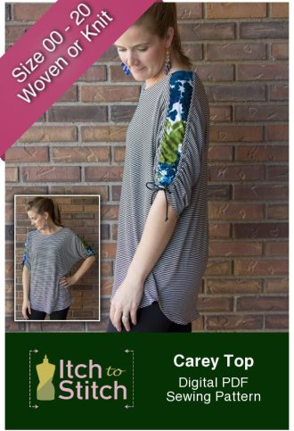 Itch to Stitch Carey Top PDF Sewing Pattern