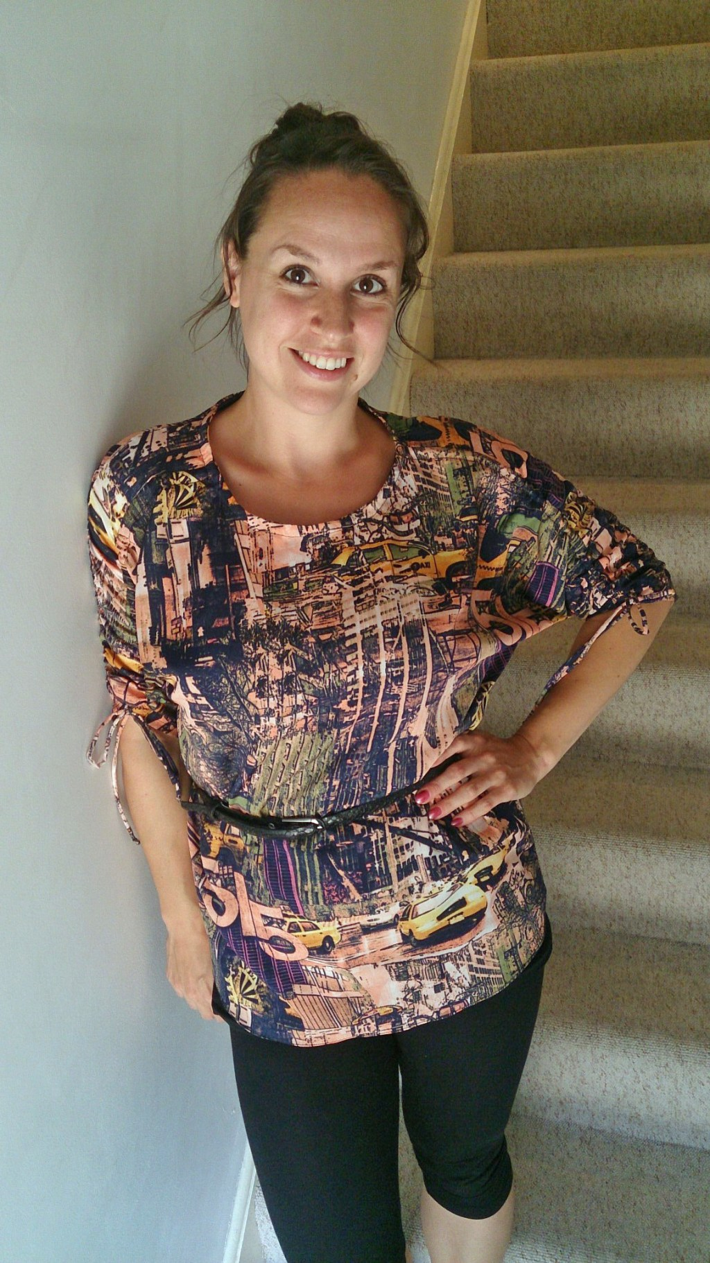 Stacey in her Carey Top - PDF Sewing Pattern