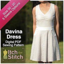 DavinaDressPDFSewingPattern250x250