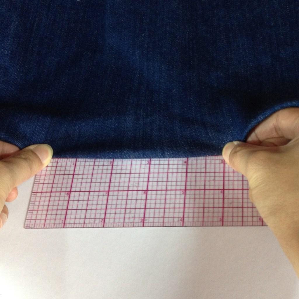 Determine Fabric Stretch Percentage Step 2
