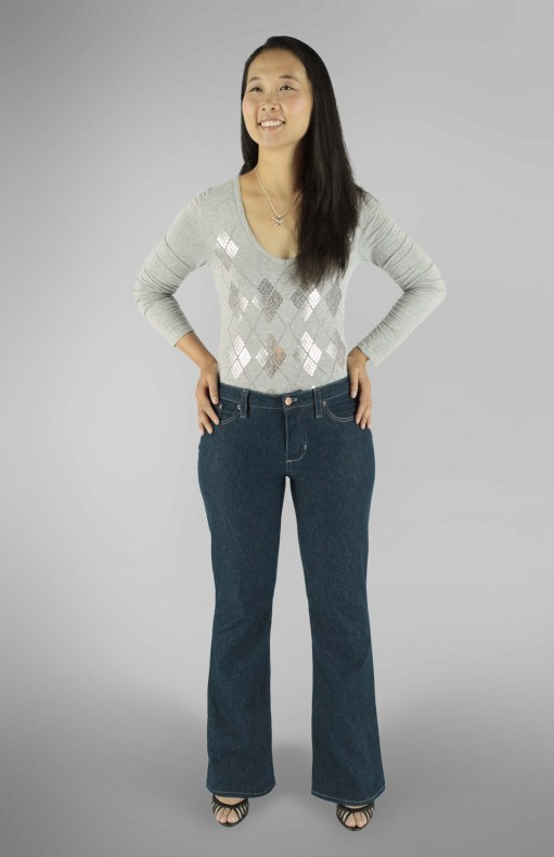 Liana Stretch Jeans PDF Sewing Pattern Boot Leg Option